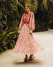 dress,maxi dress,white dress,slide shoes,long sleeve dress,bag