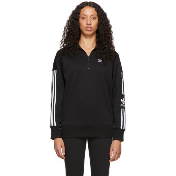 adidas Originals Black Half-Zip Sweater