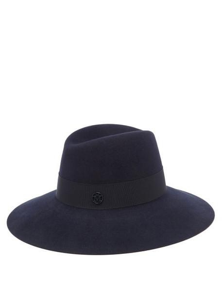 Maison Michel - Kate Felt Fedora Hat - Womens - Navy