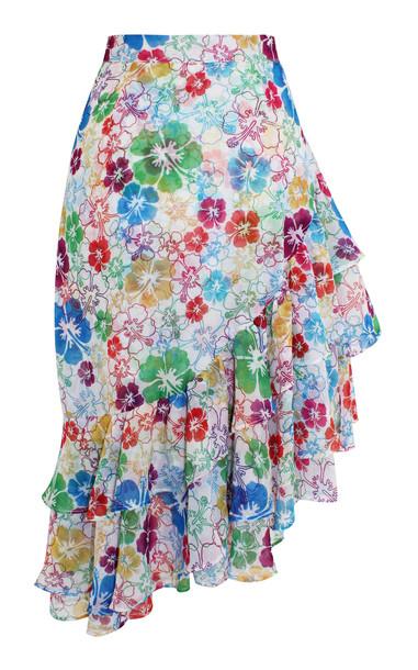 All Things Mochi Ebony Ruffle Skirt Size: XS in multi