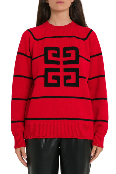Givenchy High Neck Jumper With Stripes And 4g