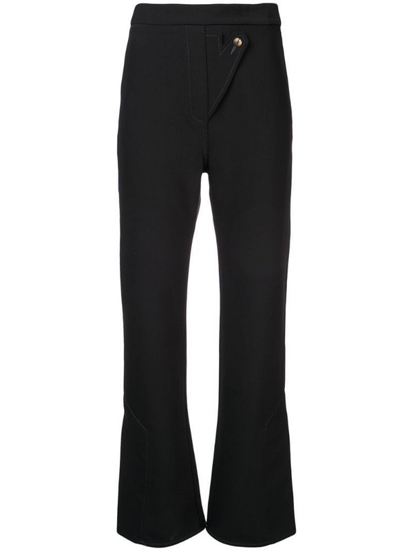 Ellery Wright and Wrong flared trousers in black