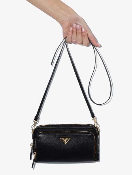 Prada black mix material mini bag