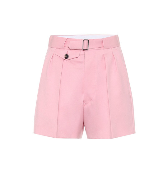 Maison Margiela High-rise wool shorts in pink