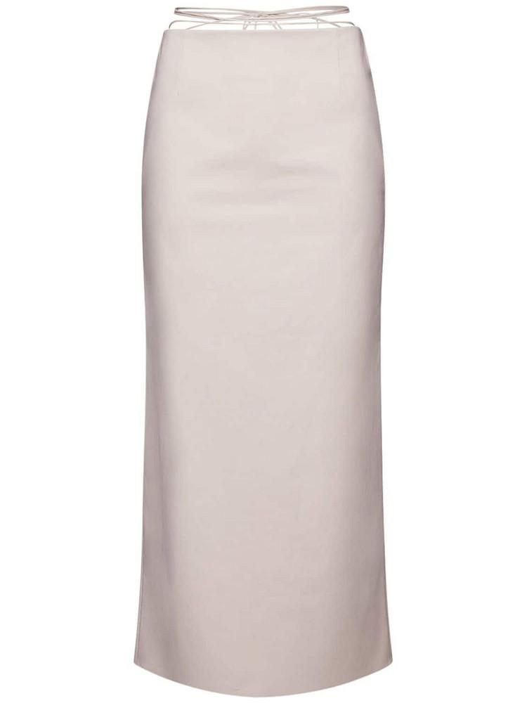 MAGDA BUTRYM Stretch Cotton Midi Skirt in grey