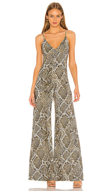 Norma Kamali Slip Jumpsuit in Brown