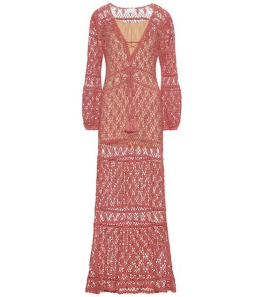 Anna Kosturova Bianca crochet cotton dress in pink