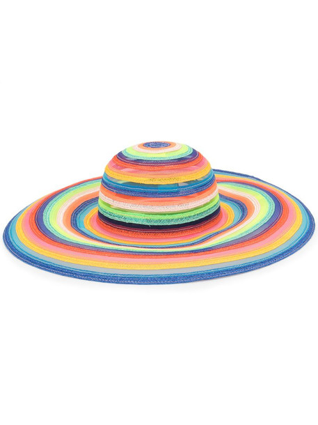 Eugenia Kim Bunny rainbow-stripe hat in blue