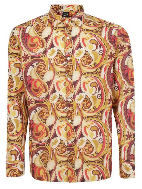 Bagutta Printed Shirt in beige