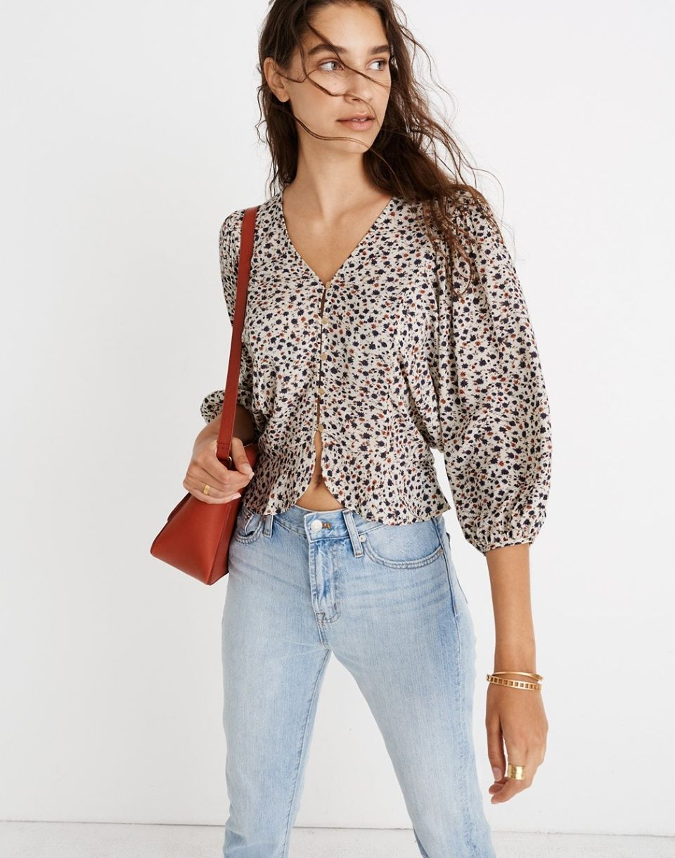 Madewell x Christy Dawn Emmy Top in Windflowers
