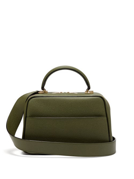 Valextra - Serie S Medium Textured Leather Shoulder Bag - Womens - Khaki
