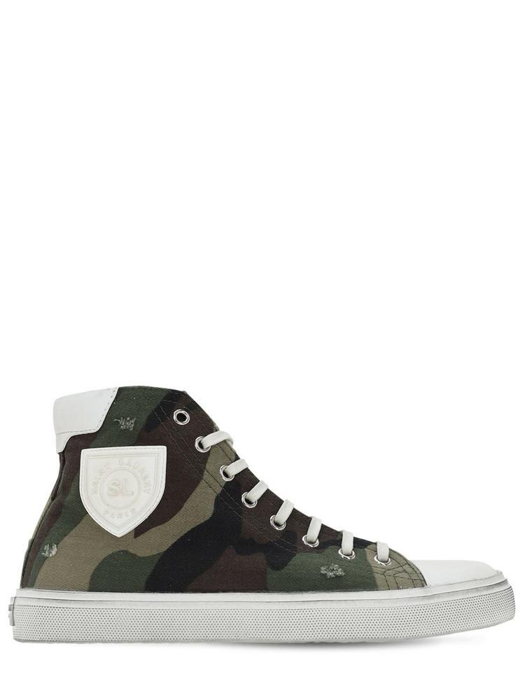 SAINT LAURENT 20mm Bedford Cotton Canvas Sneakers