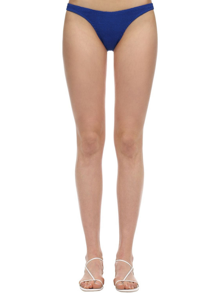 BOND EYE Scene Seersucker Bikini Bottoms in blue