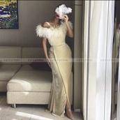 dress,beige fur