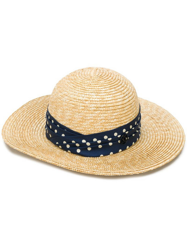 Maison Michel straw sun hat in neutrals