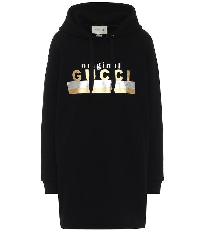 Gucci Logo cotton jersey dress in black