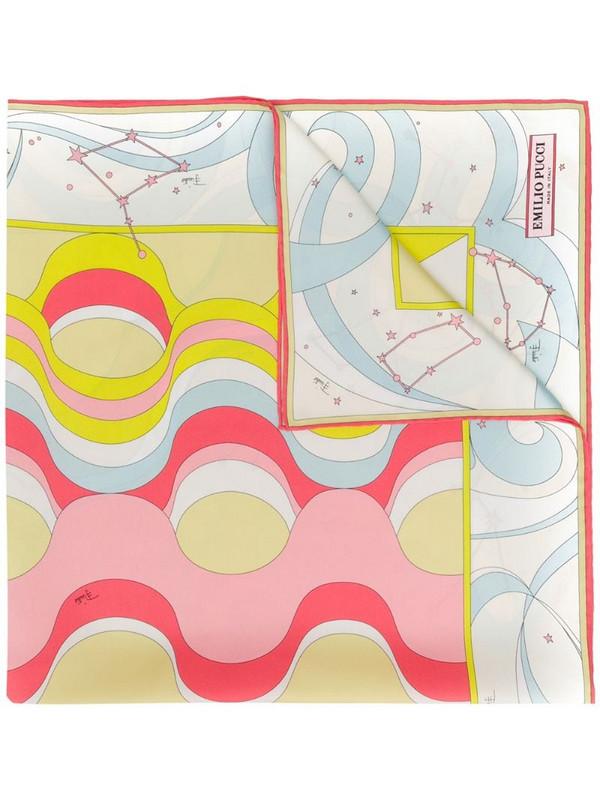 Emilio Pucci Copacabana Print Silk-Twill Square Scarf in neutrals