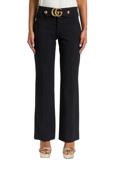 Gucci Gg Detail Jersey Trousers in nero