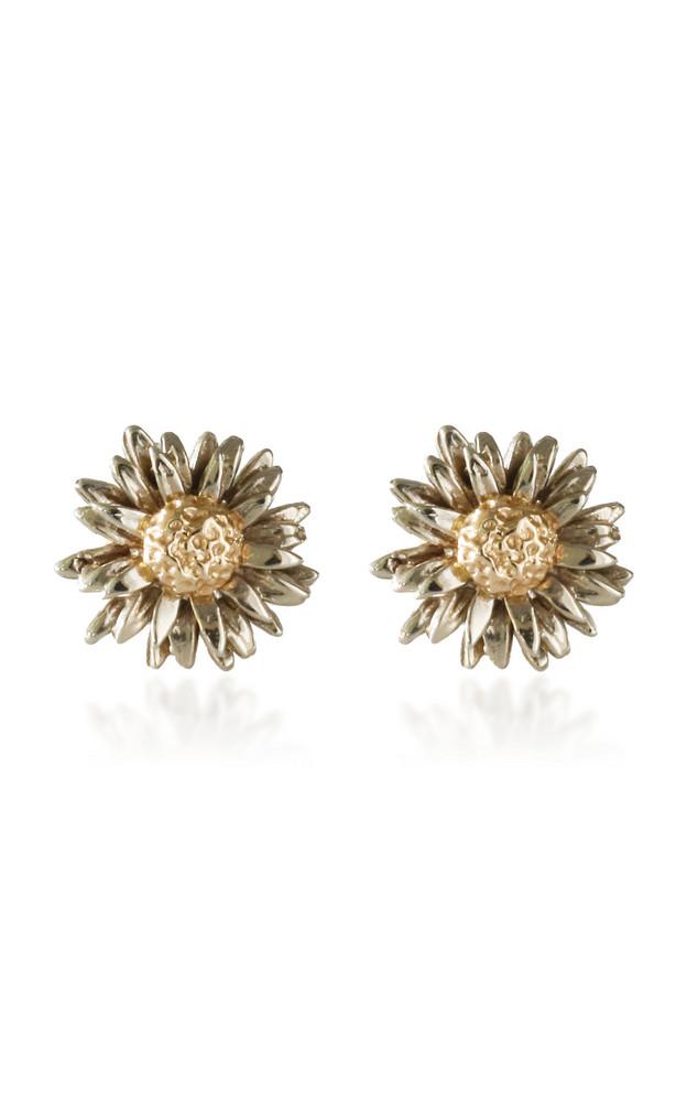 Bernard James Daisy 14K Yellow and White Gold Earrings in multi