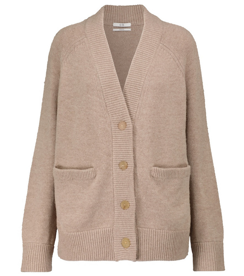 Co Wool and cashmere cardigan in grey