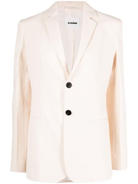Jil Sander single-breasted blazer jacket - Pink