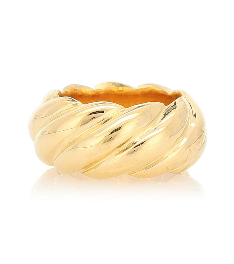 Sophie Buhai Large Rope 18kt gold vermeil ring