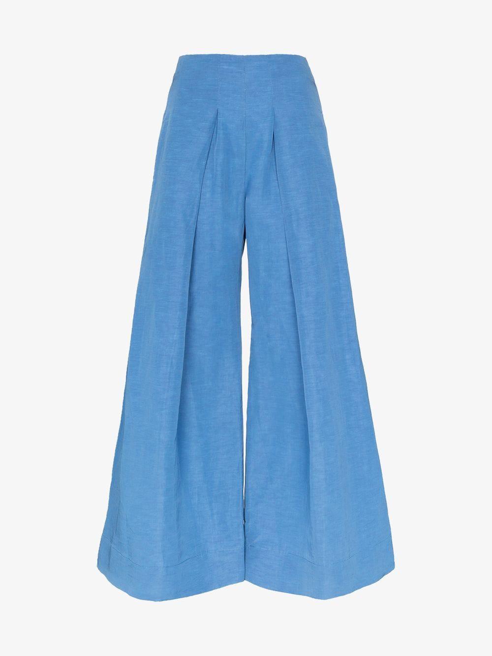 Cult Gaia jordana wide leg trousers in blue