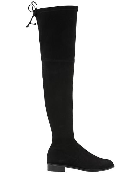 Stuart Weitzman Lowland Skimmer Boot in black