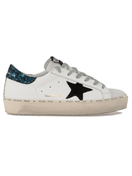 Golden Goose Hi Star Sneaker in black / white