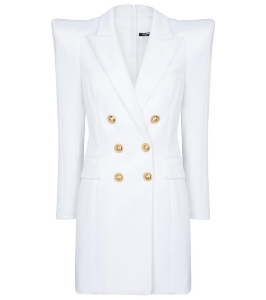 Balmain Blazer minidress in white