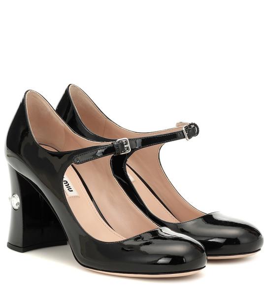 Miu Miu Patent leather Mary Jane pumps in black