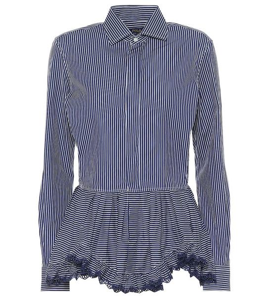 Polo Ralph Lauren Striped cotton blouse in blue