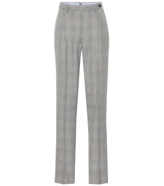 Giuliva Heritage Collection The Cornelia checked wool pants in grey