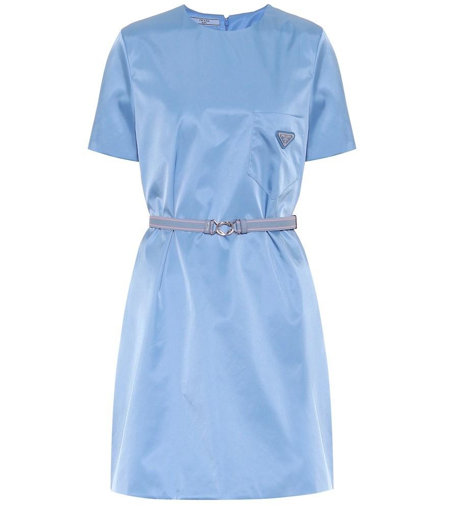 Prada Nylon minidress in blue