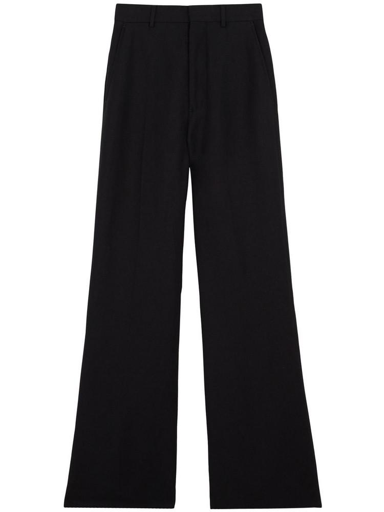 AMI ALEXANDRE MATTIUSSI Flared Viscose & Linen Twill Pants in black