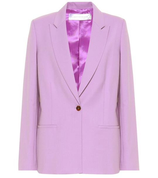 Victoria Victoria Beckham Wool-blend blazer in purple