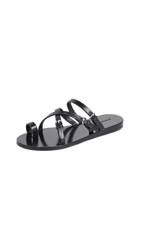 Sigerson Morrison Kaley Strappy Slide Sandals in black