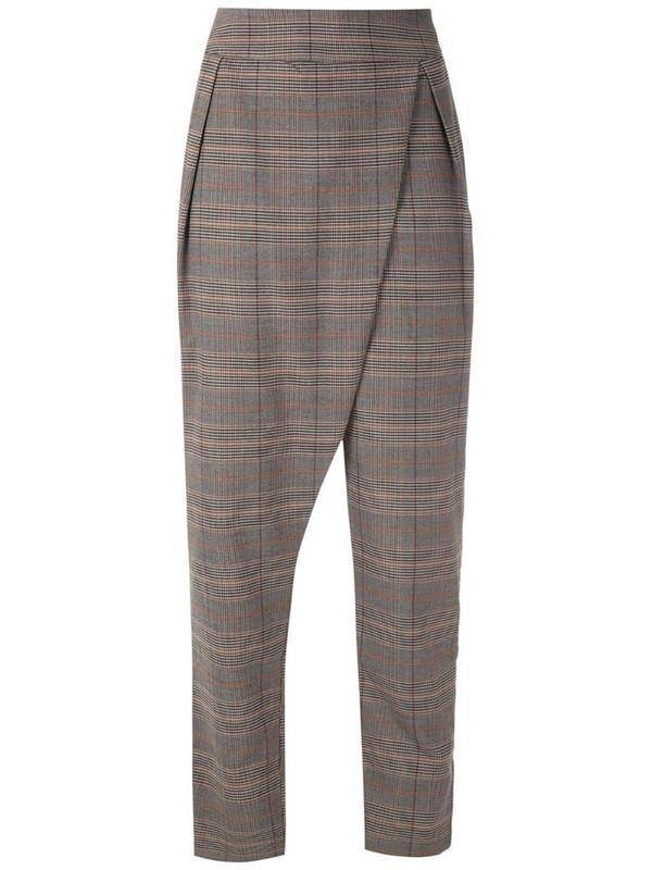 LE SOLEIL D'ETE Daniela checkered trousers
