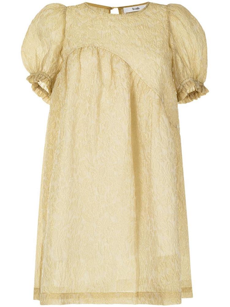 b+ab b+ab textured babydoll smock dress - Yellow