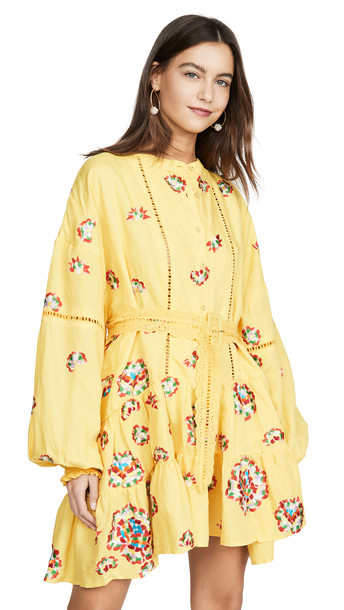 All Things Mochi Valentina Dress in yellow