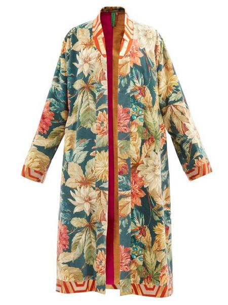 Rianna + Nina Rianna + Nina - Printed Vintage-cotton Coat - Womens - Multi
