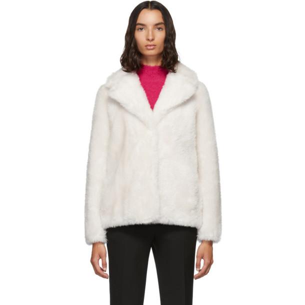 Yves Salomon - Meteo White Woven Wool Jacket