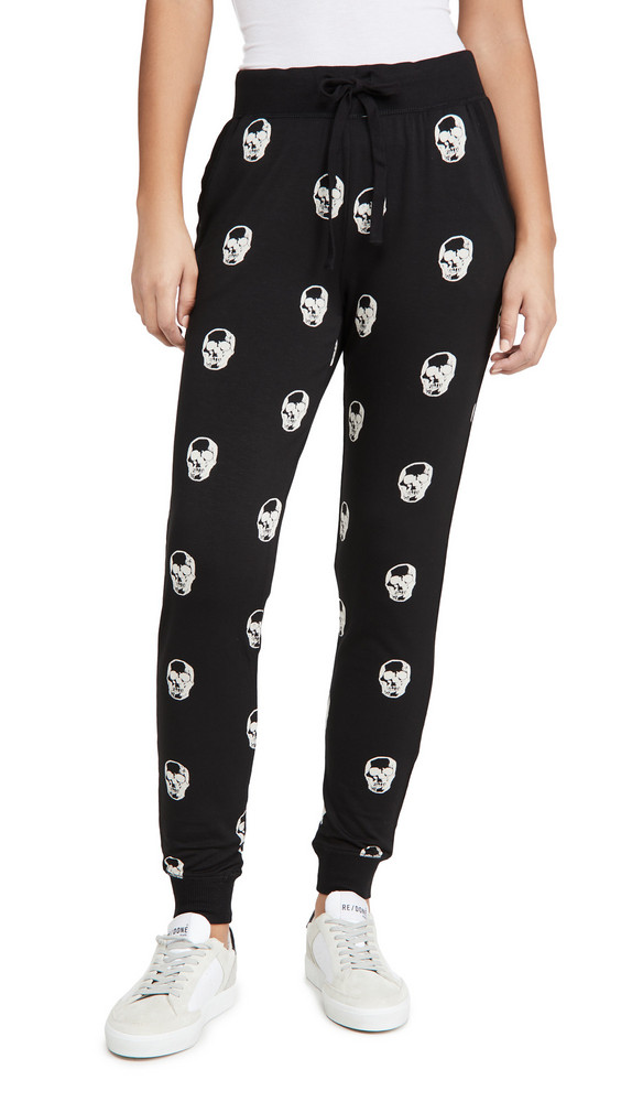 Z Supply Skull Jogger Pants in black