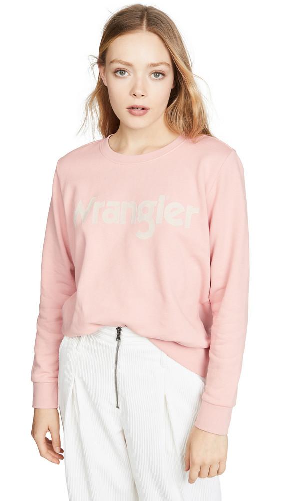 Wrangler Logo Sweatshirt in rose