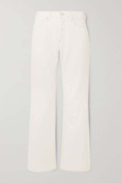 Goldsign - The Nineties High-rise Bootcut Jeans - White