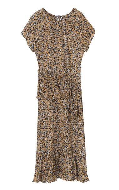 By Malene Birger Corio Floral-Print Midi Dress Size: 34