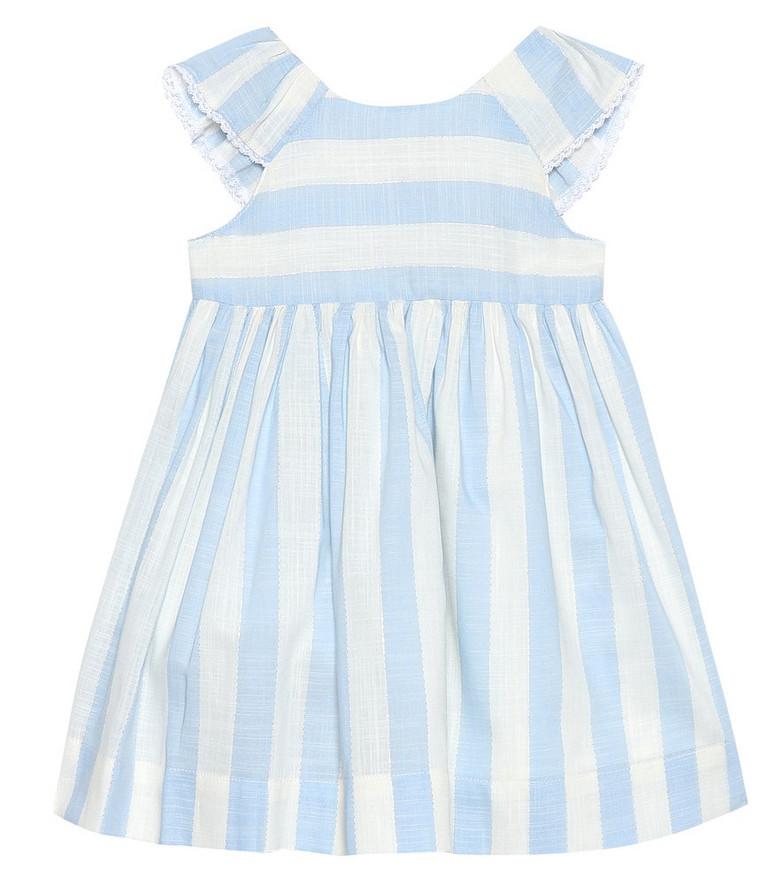 Tartine et Chocolat Baby striped cotton-blend dress in blue