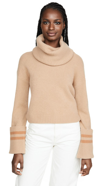 Naadam Turtleneck Cashmere Sweater in camel