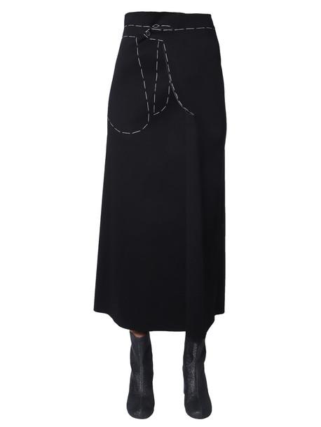 Maison Margiela Long Skirt in nero