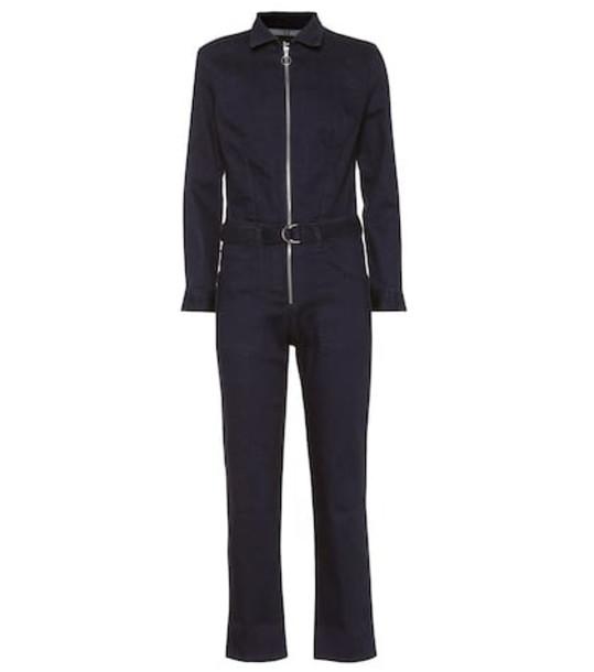 3x1 Stretch denim jumpsuit in blue